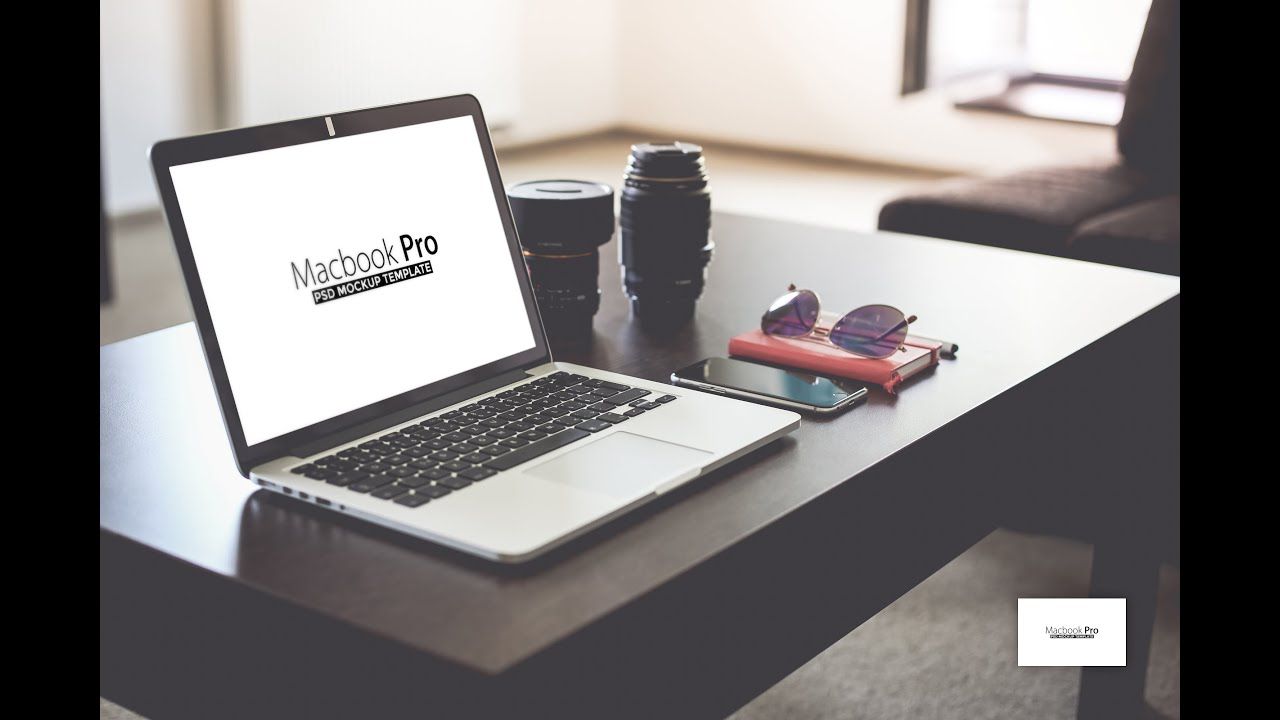How to use free macbook pro psd mockup by tranmautritam for The make room website
