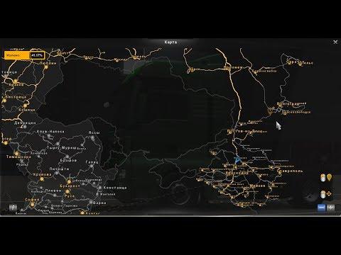 Карта RusMap 2.1 и Южный Регион 8.0 бета для Euro Truck Simulator 2 1.37●Установка и подключение