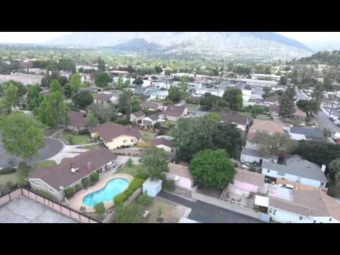 Aerial Arcadia California, East of Los Angeles