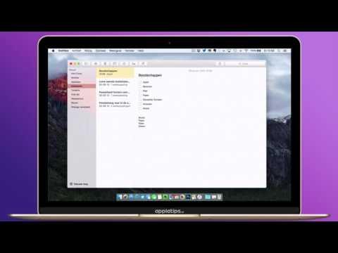 OS X: Een checklist aanmaken in de Notitie app
