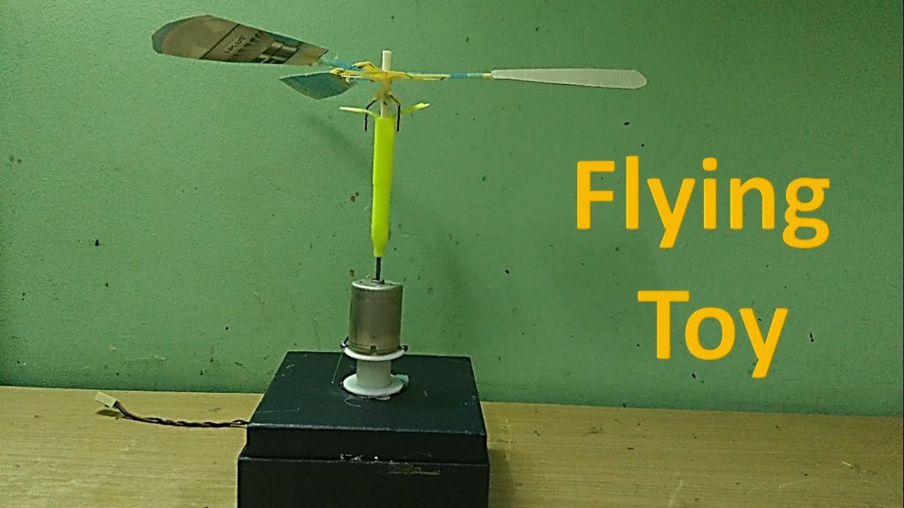 how to make a simple flying toy youtube