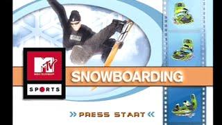 """[Ps1] Introduction du jeu """"MTV Sports: Snowboarding"""" de l"""