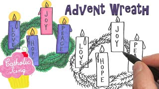 How To Draw An Advent Wreath