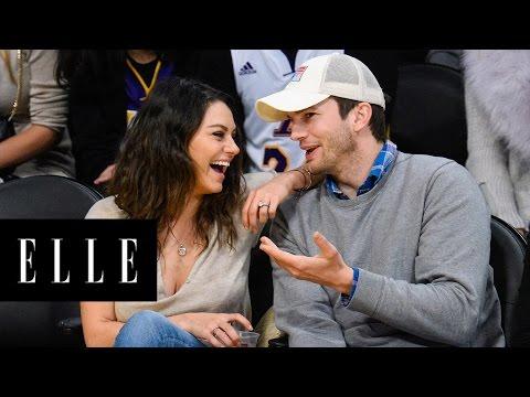 Mila Kunis and Ashton Kutcher's Cutest Moments | ELLE