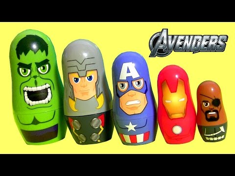 Thumbnail: The Avengers Stacking Cups Surprise Baby Toys Disney Captain America, Hulk, Iron Man Marvel Nesting