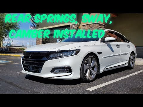 Just a Honda Accord Episode 9 Eibach rear suspension, sway bar, spc rear camber kit