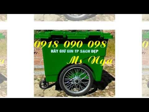 xe rac 660L, xe rác 660 lít, xe rác , xe rac, xe chứa rác 660 lít 3 bánh xe, xe rác 4 bánh xe
