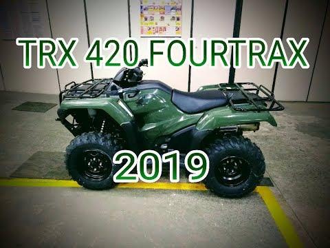 Trx 420 Fourtrax 4x4 Verde 2019 Detalhes Youtube