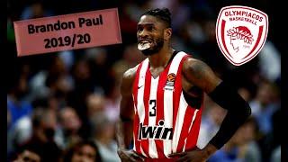 Brandon Paul ● Olympiacos B.C. ● 2019/20 Best Plays \u0026 Highlights