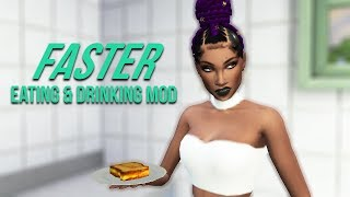 FASTER EATING AND DRINKING MOD   The Sims 4 Mods