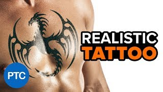 How to Add REALISTIC Tattoo in Photoshop - Fake Tattoo Photoshop Tutorial