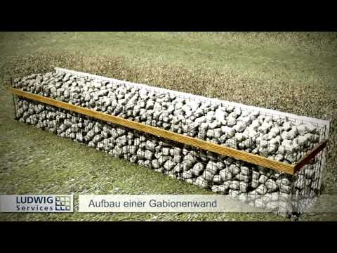 Teichmauer mit Gabionen Tag 9  Doovi