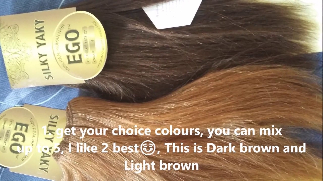 Diy how to sew in hair weave in two colour pieces to make diy how to sew in hair weave in two colour pieces to make highlights solutioingenieria Images