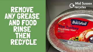 Planning a turkey for Christmas Day? If using a disposable foil tray this can go in your recyclin...