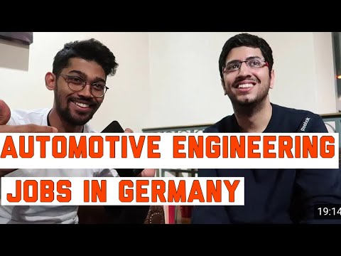 JOB IN AUTOMOTIVE ENGINEERING FROM INDIA, GERMANY