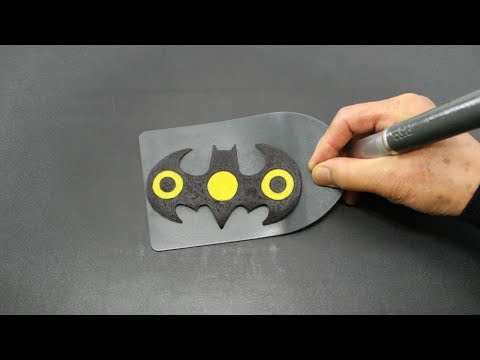 Making Batman Fidget Spinner PANCAKE