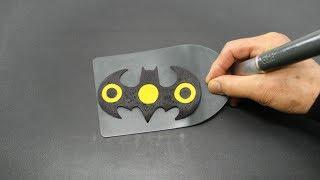 Making Batman Fidget Spinner PANCAKE
