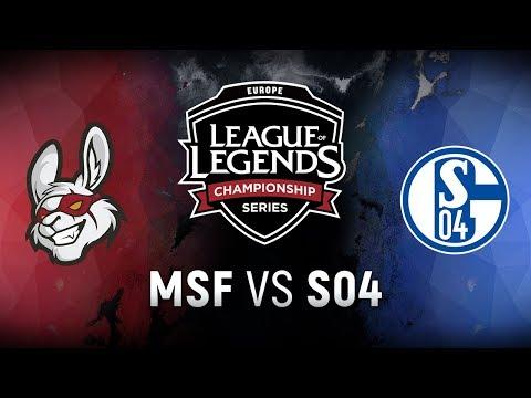 MSF vs. S04  - Week 1 Game 10   EU LCS Spring Split    Misfits Gaming vs. FC Schalke 04 (2018)