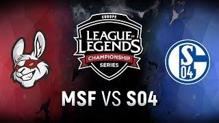 MSF vs. S04  - Week 1 Day 2   EU LCS Spring Split    Misfits Gaming vs. FC Schalke 04 (2018)