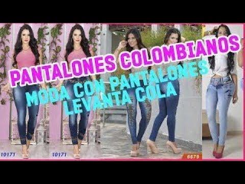 PANTALONES COLOMBIANOS CHEVIOTTO I PANTALONES LEVANTA COLA