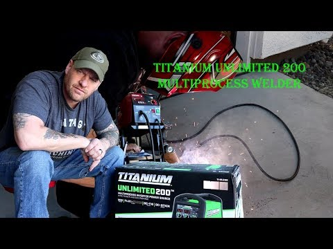 Harbor Freight Titanium Unlimited 200 Welder Unboxing And Setup