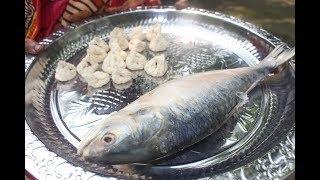 Delicious village food Hilsa fish bori vorta | Boishakh special vorta recipe