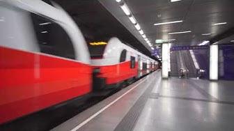Austria, Vienna, train ride from Wien Mitte to Wien Rennweg