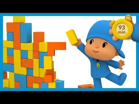 🏙  POCOYO AND NINA - Building blocks toys [93 min]   ANIMATED CARTOON for Children   FULL episodes