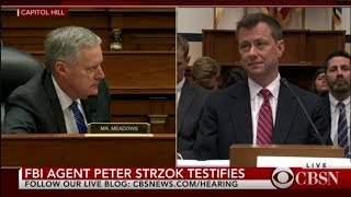 Peter Strzok Testimony in joint House committee hearing