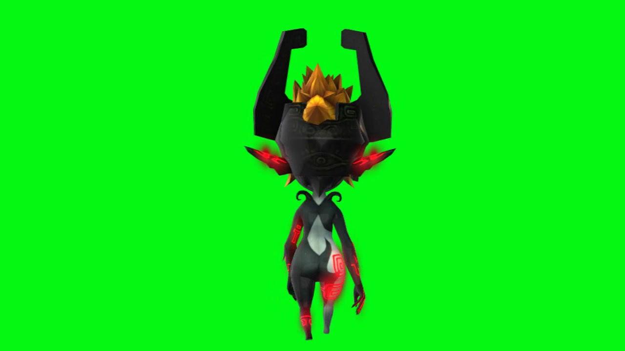 Midna Imp Form red zelda walk animated back chroma - YouTube