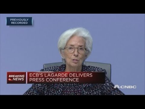 Euro Area GDP Could Fall Between 5% And 12% This Year, ECB's Lagarde Says
