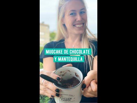 MUG CAKE DE MANTEQUILLA DE MANI Y CHOCOLATE