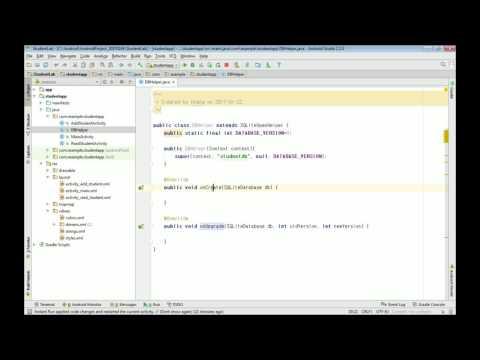 안드로이드 앱 프로그래밍 무료 강좌5 (Android DBMS -SQLite DBHelper 클래스)