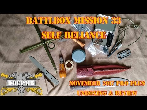 Battlbox (Battle Box) Mission 33 Self Reliance - November 2017 - Pro Plus Unboxing and review