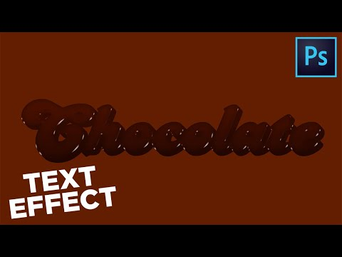 How To Create CHOCOLATE Text-Effect || Photoshop-Tutorial