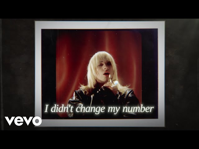 Billie Eilish - I Didn't Change My Number (Official Lyric Video)