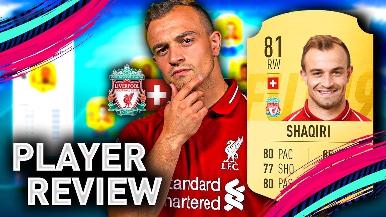 Fifa 19 Shaqiri Player Review 81 Shaqiri Fifa 19 Ultimate Team Youtube