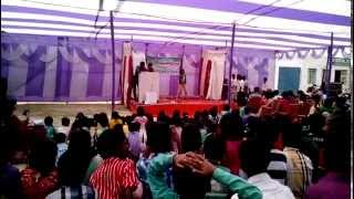 Stage dance performance on hindi songs by girl