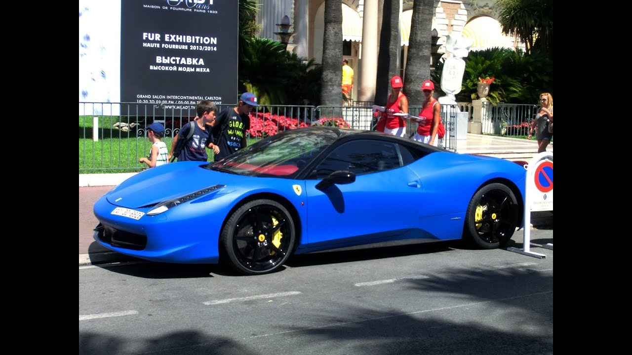 Arab Matte Blue Ferrari 458 Italia Loud Sounds