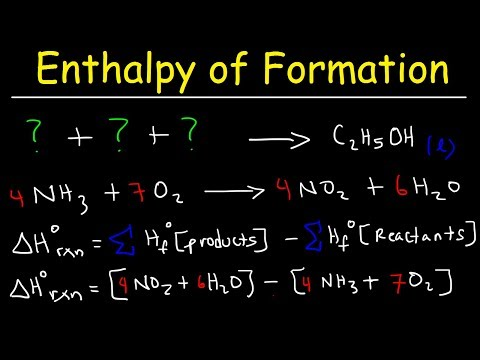 Enthalpy Of Formation Reaction & Heat Of Combustion, Enthalpy Change Problems   Chemistry