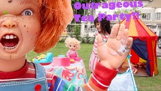 When Chucky Joins Medina for a Tea Party Guess What Happens (Rare Chucky Doll)