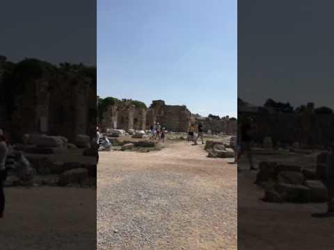 Türkiye Antalya Side Apollon tapınagı. Side Roman Apollon Temple