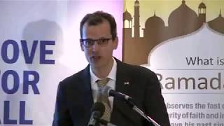 Deputy Chief of the U.S. Mission Mark A. Schapiro Speaking at Iftar