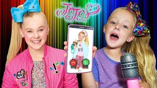 Calling JoJo Siwa! *OMG* She Answers and Teaches Me her Kid in a Candy Store Song!! (Skit)