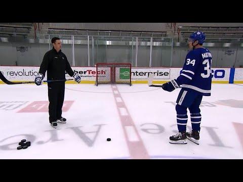 NHL Network Ice Time: Auston Matthews demonstrates his snap shot