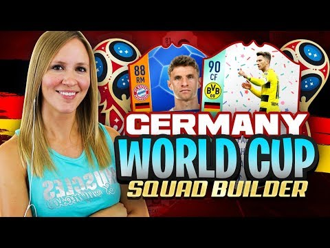 WORLD CUP 2018 GERMANY SQUAD BUILDER! FIFA 18 ULTIMATE TEAM