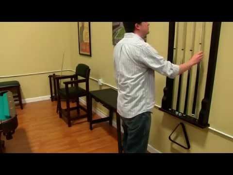 premium wall mounted cue rack