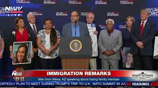 MESA MAN: Speaks about family member killed by undocumented immigrant (FNN)