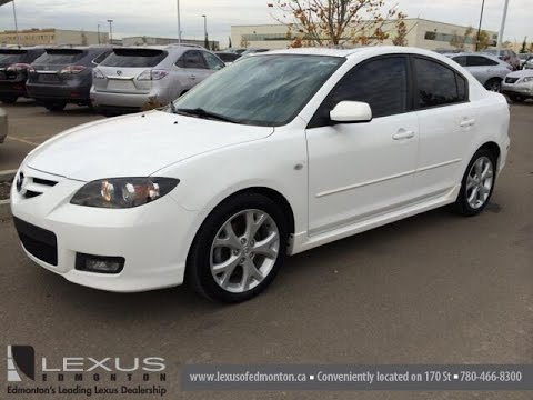 Pre Owned White on Black 2008 Mazda Mazda3 20085 4dr Sdn Auto GT