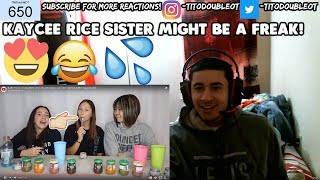 BABY FOOD CHALLENGE (Part 2!) with Bailey Sok ft MY SISTER Kylie! - Kaycee Rice REACTION!SHE A FREAK